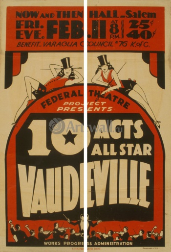 Модульное панно 10 Acts All Star Vaudeville, Federal Theater Project, Кино