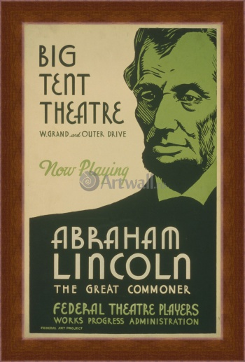 Магнитная картина Abraham Lincoln The Great Commoner, Big Tent Theater,