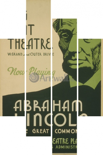 Модульное панно Abraham Lincoln The Great Commoner, Big Tent Theater,