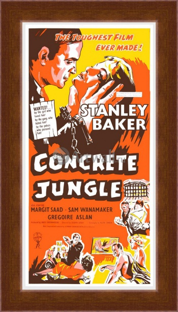 Магнитная картина Concrete Jungle, The Toughest Film Ever Made, Stanley Baker, Кино