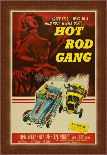 Магнитная картина Hot Rod Gang, Crazy Kids Living to a Wild Rock 'n Roll Beat,