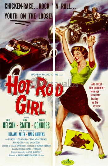 Модульное панно Hot Rod Girl, Chicken race, Rock 'n Roll, Youth on the Loose, Кино