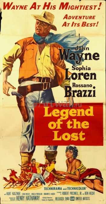 Legend of the Lost, John Wayne, Sophia Loren, Rossano Brazzi, Кино