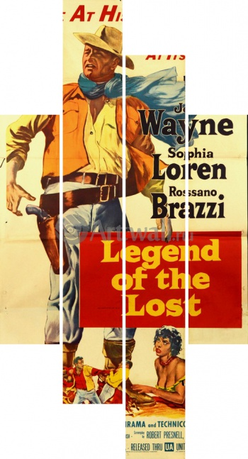 Модульное панно Legend of the Lost, John Wayne, Sophia Loren, Rossano Brazzi, Кино
