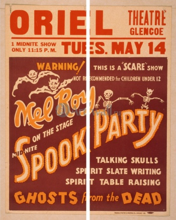 Модульное панно Mid-Nite Spook Party, Ghosts from the Dead, Scare Show, Кино