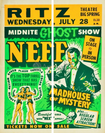 Модульное панно Midnite Ghost Show, Dr. Neff, Madhouse of Mystery, Кино
