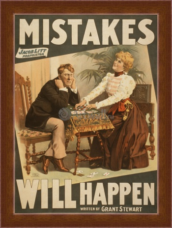 Магнитная картина Mistakes Will Happen, by Grant Stewart,