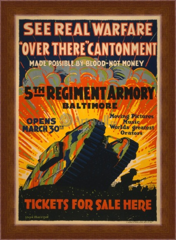 Магнитная картина See Real Warfare, Over There Cantonment, 5th Regiment Armory Baltimore, Кино