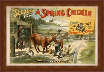 Магнитная картина Selden's Funny Farce, A Spring Chicken,