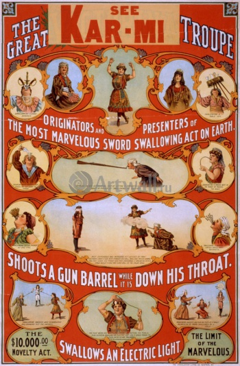 The Great Victorina Troupe Originators and Presenters of the Most Marvelous Sword Swallowing Act on, Кино