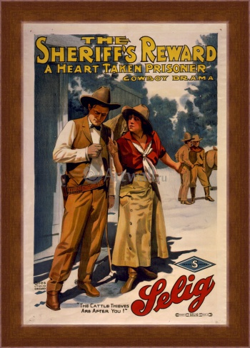 Магнитная картина The Sheriff's Reward a Heart Taken Prisoner, Cowboy Drama, Кино