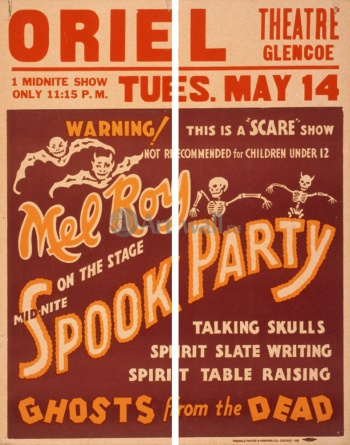 Модульное панно Mid-Nite Spook Party, Ghosts from the Dead, Scare Show, Цирк