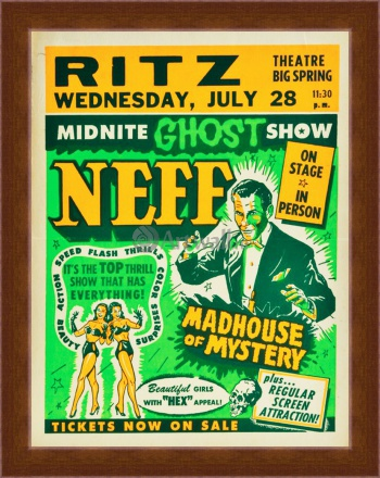 Магнитная картина Midnite Ghost Show, Dr. Neff, Madhouse of Mystery,