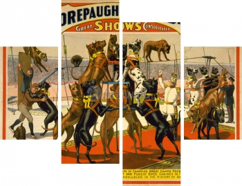 Модульное панно The Adam Forepaugh & Sells Brothers, America's Greatest Shows Consolidated (2),
