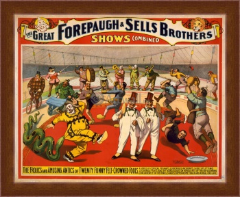 Магнитная картина The Adam Forepaugh & Sells Brothers, America's Greatest Shows Consolidated (3),