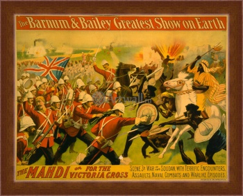 Магнитная картина The Barnum & Bailey Greatest Show on Earth, The Mahdi or for the Victoria Cross, Цирк