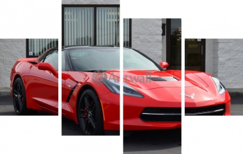 Модульное панно Chevrolet Corvette Stingray (арт. am1712),