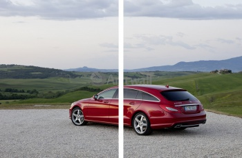 Модульное панно Mercedes-Benz CLS Shooting Brake (арт. am2206),