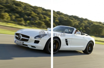 Модульное панно Mercedes-Benz SLS AMG Roadster (арт. am3686),